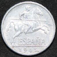 1945   Spain 5 Centimos   Coins   KM Coins