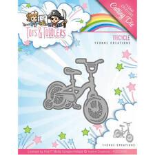 Creaciones de Yvonne Tots y niños triciclo corte y troquel estampador
