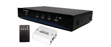 Professional 4-Port VGA + Audio To HDMI DVI Converter Switch + IR Remote