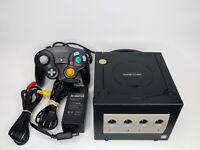 Nintendo GameCube Console DOL-001, Genuine OEM Black Controller, Power, AV Cable