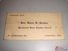 Vintage 1940's Business Card • Glenforest Road Baptist Church • Toronto, ONT