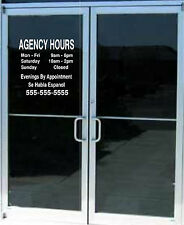 Custom Business Store Hours Sign Vinyl Decal Sticker 15x15 Window Door Glass