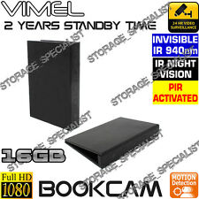 Wireless Security Camera Book Motion Detection Night Vision Cam No SPY hidden
