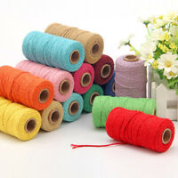 2mm Thread Braided Cotton Rope Crafts Macrame Cord String Cotton Twisted Tag AU