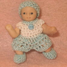 Handmade Romper set for Boy Miniature Doll 2 - 2/1/2 inch size