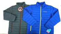 NWT COLUMBIA Men's Blue/Gray Water Resistant Thermal Coil Puffer Jacket M-2XL