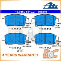 ATE FRONT DISC BRAKE PAD SET FOR TOYOTA OEM 13046058102 04465-52011