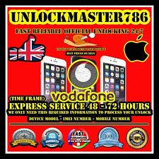 VODAFONE UK Factory Unlock Service iPhone 4/4S 5/5C/5S 6/6+ 6S/6S+ 7/7+ 8/8+