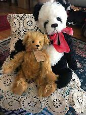 "Annette Funicello Mohair Panda Bear & Mary Myer ""Randall"" Bear Cute!"