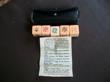 More details for vintage set of poker dice in case with instructions