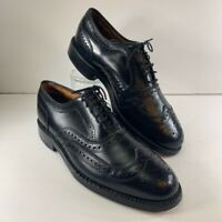 Allen Edmonds Mens Barrington Dress Oxford Shoes Black Wingtip Lace Up 7.5 D