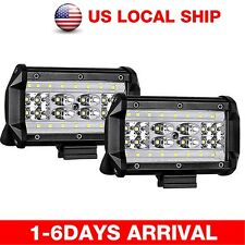 "5""INCH 168W LED Work Light Bar Flood Combo Pods Driving Off-Road Tractor 4WD 12V"