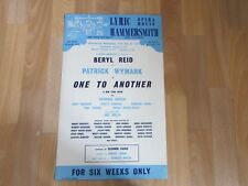 Beryl REID & WYMARK in One to Another Original LYRIC Hammersmith Theatre Poster