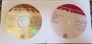 2 CDG KARAOKE DISCS OUTLAW COUNTRY JIM REEVES/HANK WILLIAMS JR CKC39,54 CD+G