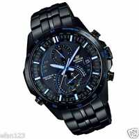 EQS-A500DC-1A2 Black Blue Casio Men's Watch Edifice Steel Band Tough Solar New