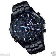 EQS-A500DC-1A2 Black Blue Casio Men's Watch Edifice Steel Band Tough Solar New
