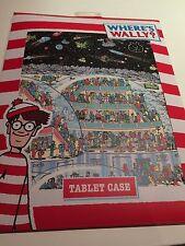 BNWT Nuevo Donde Está Wally Tablet Case Funda Acolchada limpie