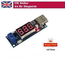 DC-DC Módulo Reductor fuente de alimentación/batería voltaje metro de carga USB 2A + 5V