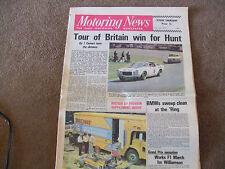 Motoring News 12 July 1973 Avon Tour of Britian Surtees TS14A TS9B F1 Cutaway
