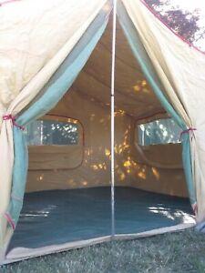Vintage Coleman Tent Canvas Vagabond Cabin Tent 12x9. NICE !!