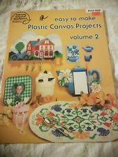 Easy to Make Plastic Canvas Projects Vol 2 Coasters Tissue Glasses Case PATTERNS