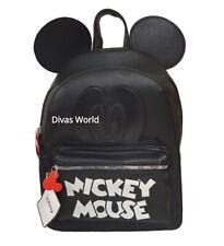 Disney Mickey Mouse Rucksack Schwarz Rucksack Reise Schule Taschen Neu Primark