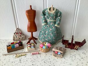 Dolls house miniature 1:12 mixed lot of haberdashery accessories