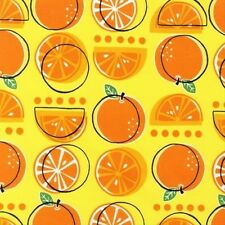 Robert Kaufman Metro Market Oranges Fabric in Yellow by Monaluna 1 yd