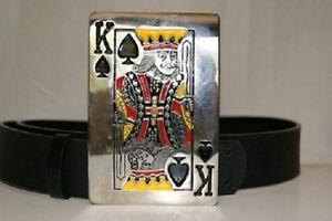 Las Vegas Poker King Belt Buckle