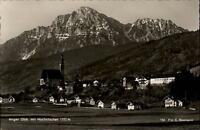 Anger Oberbayern alte Ansichtskarte 1958 gelaufen Gesamtansicht mit Hochstaufen