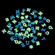 50pcs Lettering Glow In The Dark Charms For Glass Living Memory Locket Necklace
