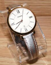 Genuine Fossil (ES3438) Rose Gold Tone Leather Analog Women's Wrist Watch Only