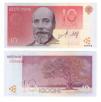 ESTONIA UNC 10 Kroon Banknote (2007) P-86b Paper Money