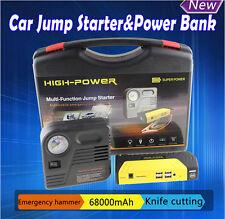 68800mAh Car Jump Starter Emergency Power Bank Charger & Compressor Air Pump