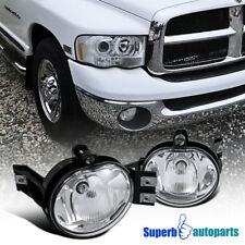 Dodge 02-08 Ram 1500/2500/3500 04-06 Durango Clear Fog Lights Bumper Lamp+Bulbs