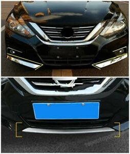 3*FIT Nissan Altima 2016 -2018 Chrome Front Bumper Bottom Protector Cover Trim S