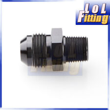 AN4 -4 AN to 1/4'' NPT Straight Adapter Pipe Fuel Oil Air Fitting Black Color