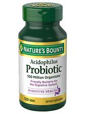 Nature's Bounty Probiotic Acidophilus 120 Tablets
