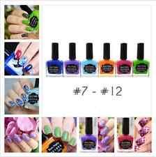 6Bottles/Set 15ml Born Pretty Stamping Polish Nail Stamping plate Varnish #7-#12