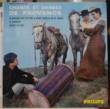 CHANTS ET DANSES DE PROVENCE ESCOLO MISTRALENCO FRENCH EP PHILIPS