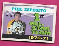1971-72 OPC # 253 BRUINS PHIL ESPOSITO ALL STAR EX-MT  (INV# J0345)