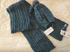 Uimi Duck Egg 100% Merino Wool Scarf And Beanie New With Tags RRP $168