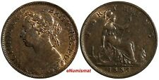 Great Britain Victoria Bronze 1884 Farthing KM# 753 (17 030)