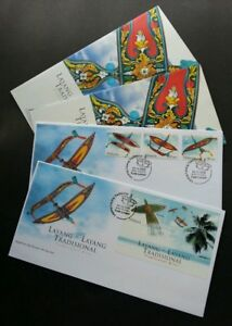 Malaysia Traditional Kites 2005 Traditional Culture Games Beach Play (FDC pair)
