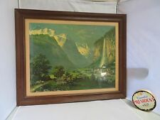Black forest German Alps décor frame print mid century bauhaus décor modernist