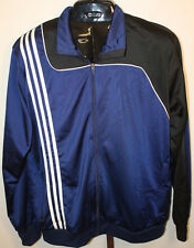 Mens  NWT Adidas Navy White Stripes Zip Front  Activewear Jogging Jacket Size XL