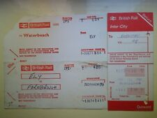 BR Card Railway Tickets (3) WATERBEACH, ELY, NORWICH, BARNETBY