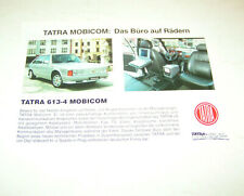 Prospekt / Broschüre PKW Tatra 613-4 Mobicom - Das Büro auf Rädern