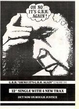 """18/10/86pg31 Single Advert 10x7"""" Charged Gbh, Oh No! It's G.b.h Again"""