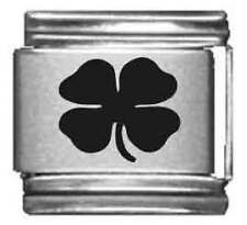 Clearly Charming 4 Leaf Clover Laser Italian Charm
